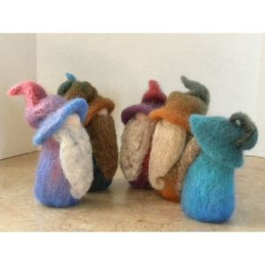 gnomes  being felted... cute