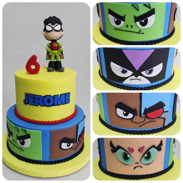 Teen Titan Cake !  Violeta Glace