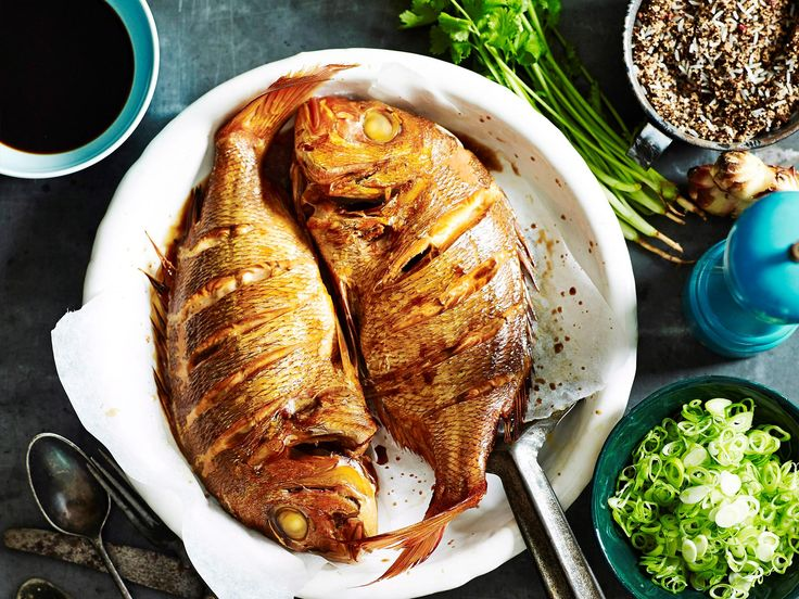Whole baked fish always makes a spectacular centrepiece for a special meal, and no fish more so than snapper. This recipe makes for a fragrant, spiced and deeply savoury fish.