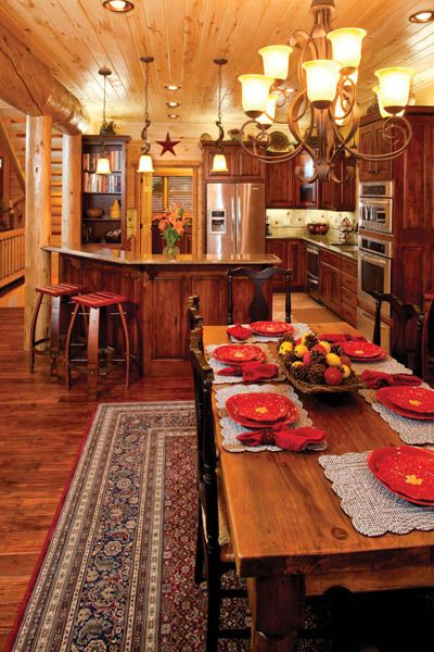 Log home spaces and ideas