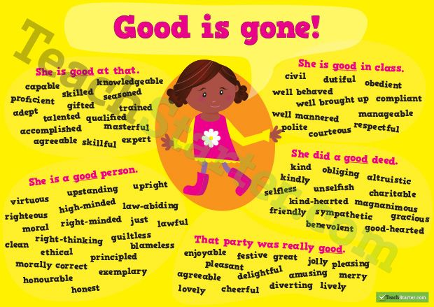 Other words for 'Good' Synonym Poster | Synonyms for ...