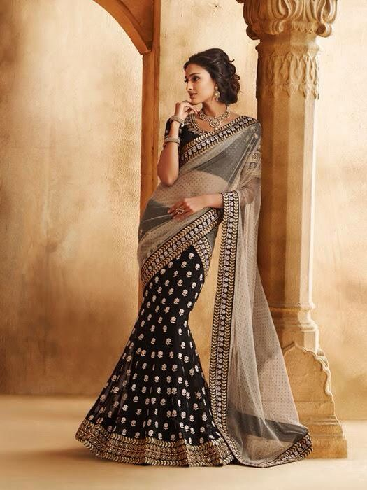 e756a5710ca643 Collection: Bay Chic | Indian Ethnic Wear in 2019 | Lehenga saree, Lengha  saree, Lehenga style saree