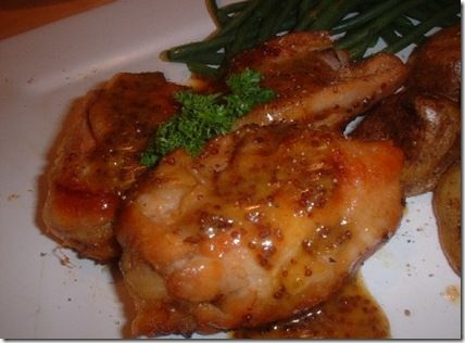 honey and mustard baked chicken thighs