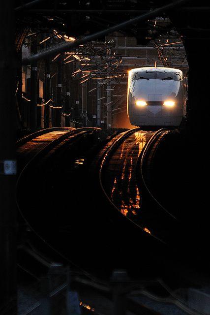 Japanese bullet train, Shinkansen   ..rh