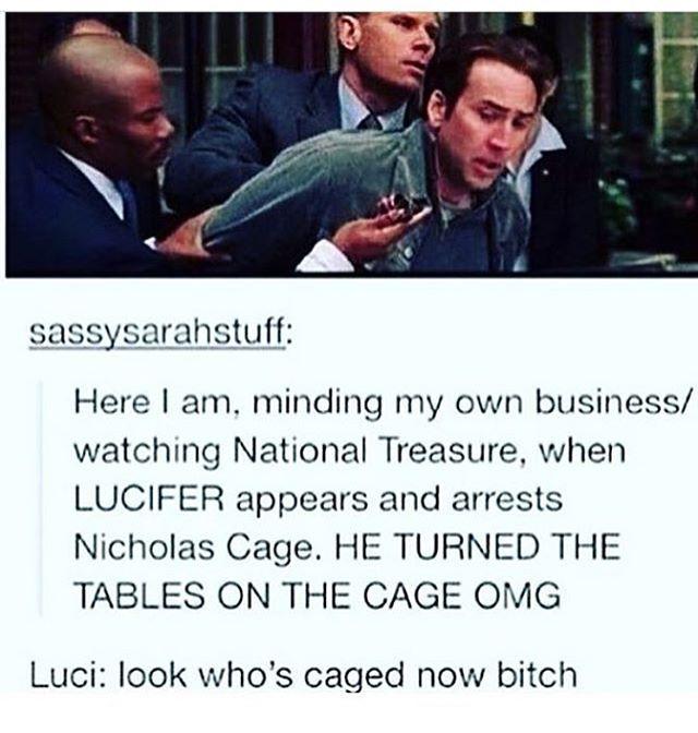 The cage is caged bitches -------------------------------------------- #jensenackles #deanwinchester #winchester #supernatural #supernaturalfandom #spn #spnfamily #alwayskeepfighting #youarenotalone #jaredpadalecki#samwinchester #castiel #castielangelofthelord #mishacollins #spnfandom is#mishaporn #destiel #cockles #teamfreewill #dean #sam #cas #rowena #ruthconnel #crowley #supernaturalfunny #supernaturaltumblr