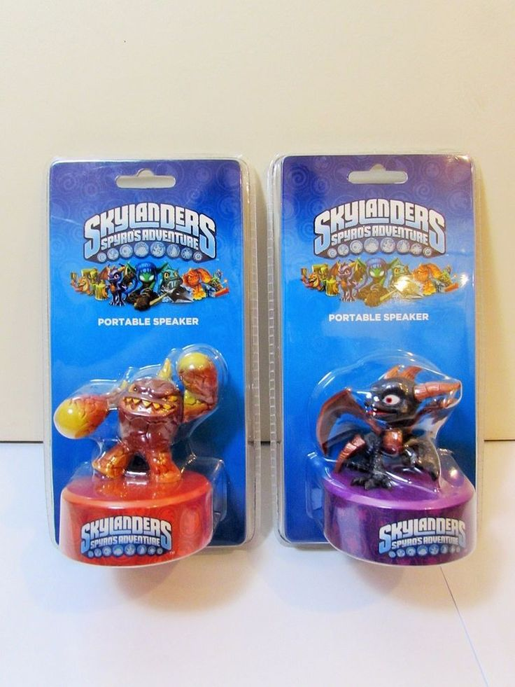 Skylanders Spyro s Adventure lot of 2 Eruptor and Spyro Portable Speaker BNIB