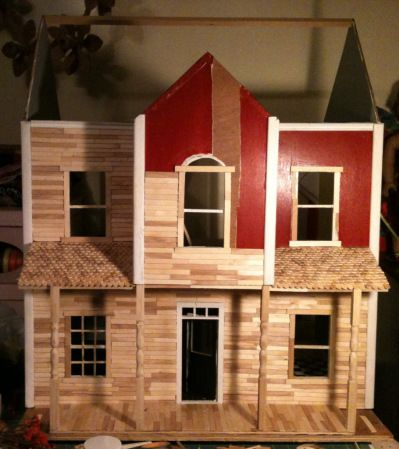 A Popsicle Stick Dollhouse Popsicles Dollhouses And Sticks