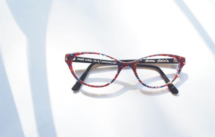 S O F R E S H // We know we shouldn't get too attached, but this frame though... ( : MOSHdesigns - 'femme fatale', handmade in Gastown) #eyewear #handmade #custom #eyeglasses #glasses #cat #eye #trend #gastown #vancouver #optical