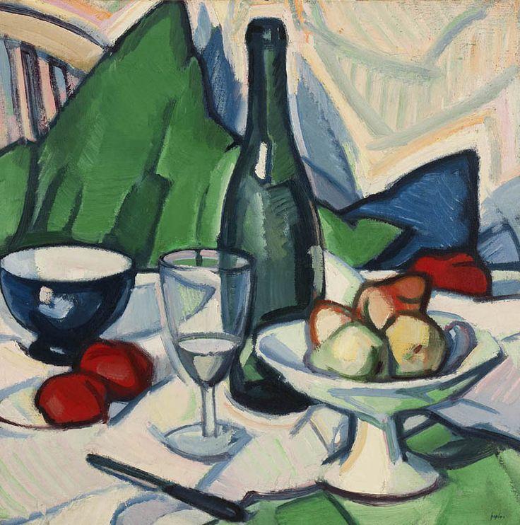 S J Peploe | Still Life with Bottle1912