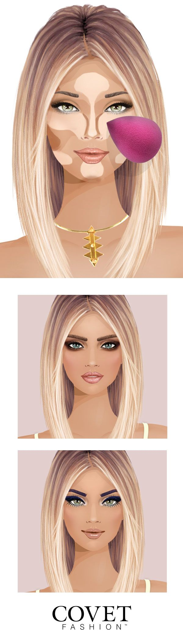 Select the best makeup, hairstyle and outfit of the day in Covet Fashion! Discover hundreds of fashion brands and use them in styling events that will become your daily escape! Try Covet Fashion today and get the virtual closet of your dreams. #Makeup