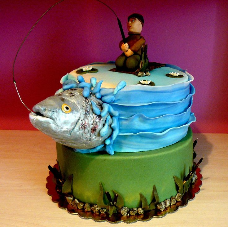 98 Best Fishing Birthday Theme Images On Pinterest: Best 25+ Fishing Cakes Ideas On Pinterest