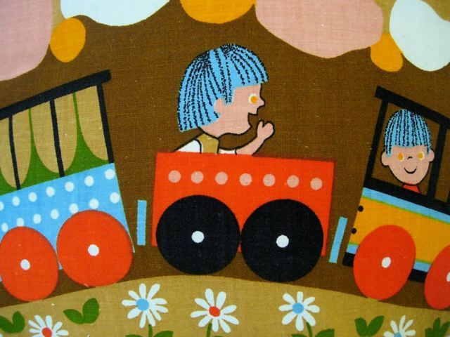 36 best kabouters van rien poortvliet images on pinterest for Kids train fabric