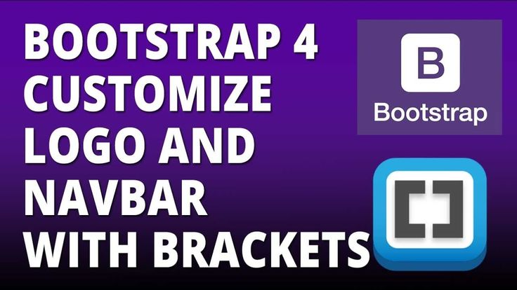 Bootstrap 4 - Logo and Navbar Customization with Bootstrap 4 and Bracket...