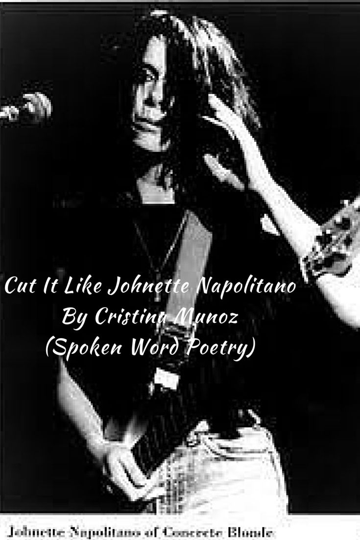 Cut It Like Johnette Napolitano: Being so passionate about Alternative Music I wrote album reviews for Beat Magazine & hosted a Sunday Night Graveyard Shift show with 3RRR in Melbourne. This poem is a story about the night I met an inspiration of mine Rock Poet Johnette Napolitano with Concrete Blonde, being true to yourself & my hair!