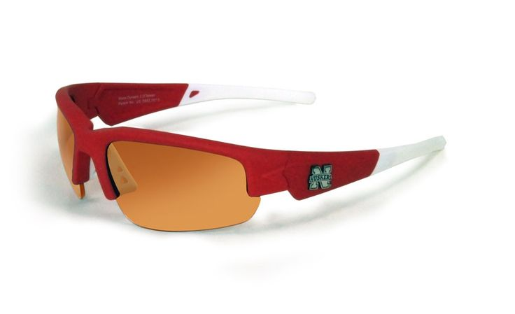 Nebraska Cornhuskers Sunglasses - Dynasty 2.0 Red with White Tips