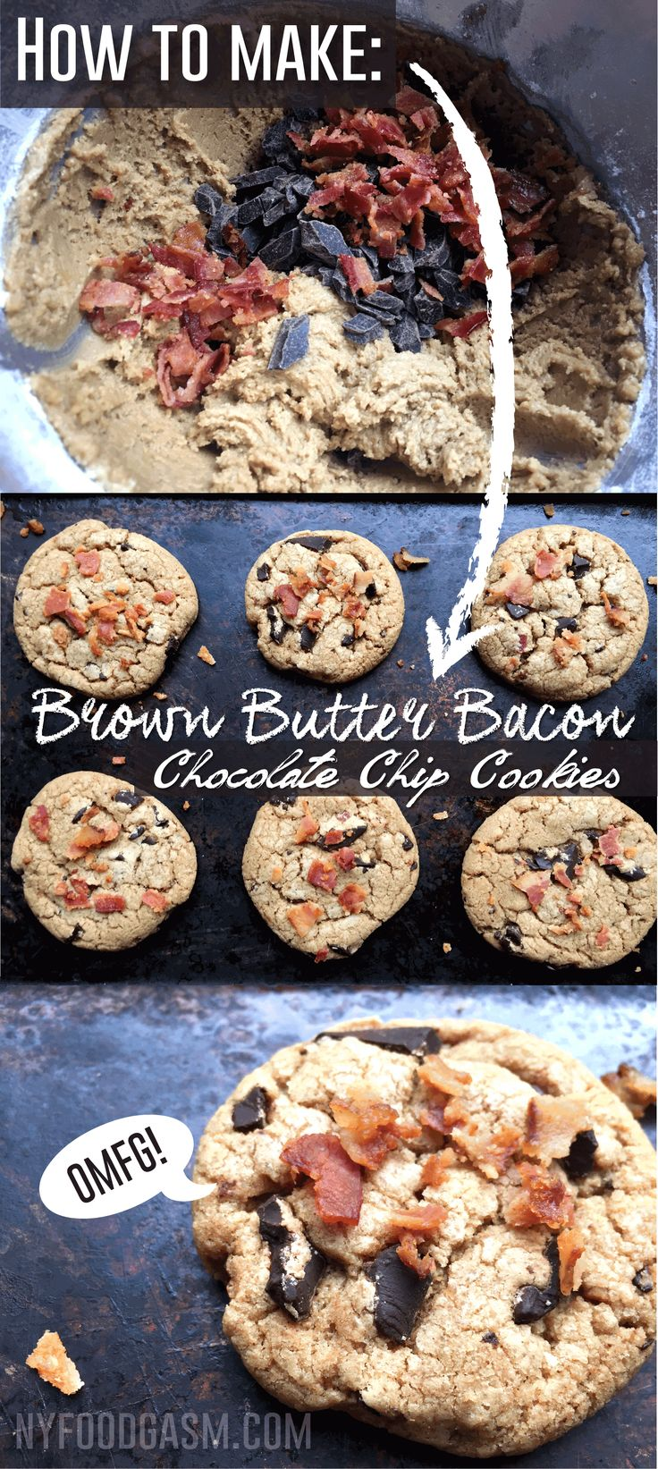 Brown Butter Bacon Chocolate Chip Cookie