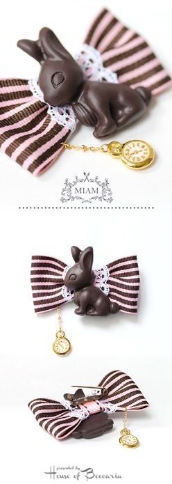 ~Miam Paris ~ Broche Lapin Chocolat | House of Beccaria#