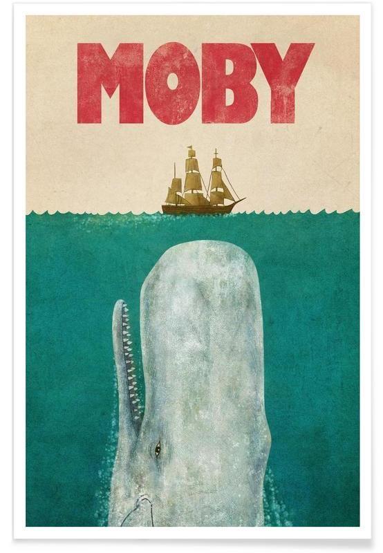 Moby en Affiche premium par Terry Fan | JUNIQE
