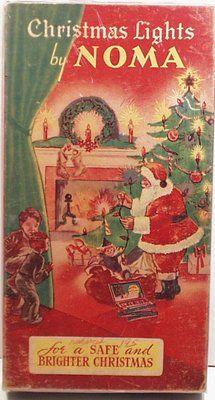 Noma Christmas Light Box with Santa Claus