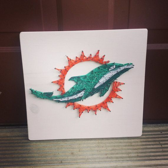 Miami Dolphins NFL String Art football string by BlossomsNKnots
