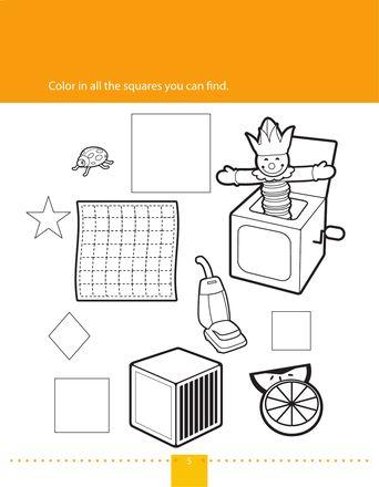 Worksheets: Find & Color Squares