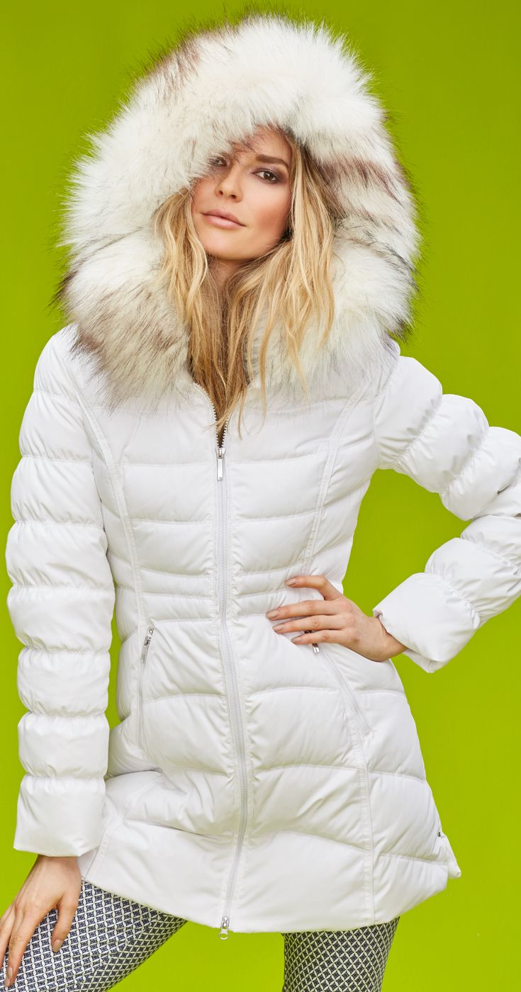 Stay warm and chic this winter with this long down coat.