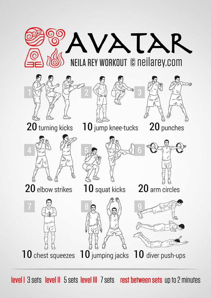 Avatar Workout | neilarey.com | #fitness #bodyweight
