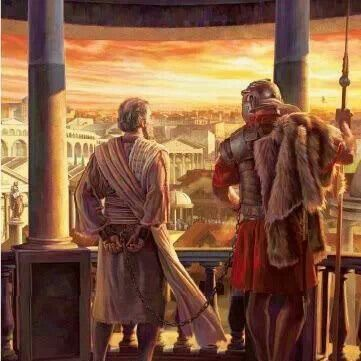 """Apostle Paul in Rome. Acts 1:8 """"and you will be witnesses of me in Jerusalem, in all Judea and Samaria, and to the most distant part of the earth."""""""
