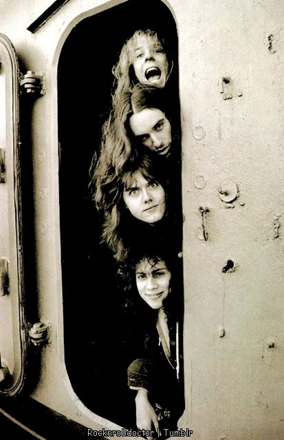 Metallica, from when they were good. Why does Lars always look like he wants me to punch his smug face?