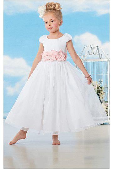 Lovely A-line Scoop Organza Flower Girl Dresses