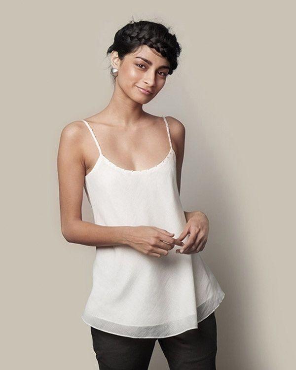NICOBAR Silk Camisole - Ivory
