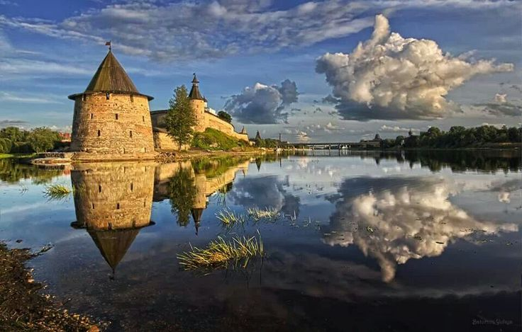 Kremlin in ancient Russian city of Pskov.