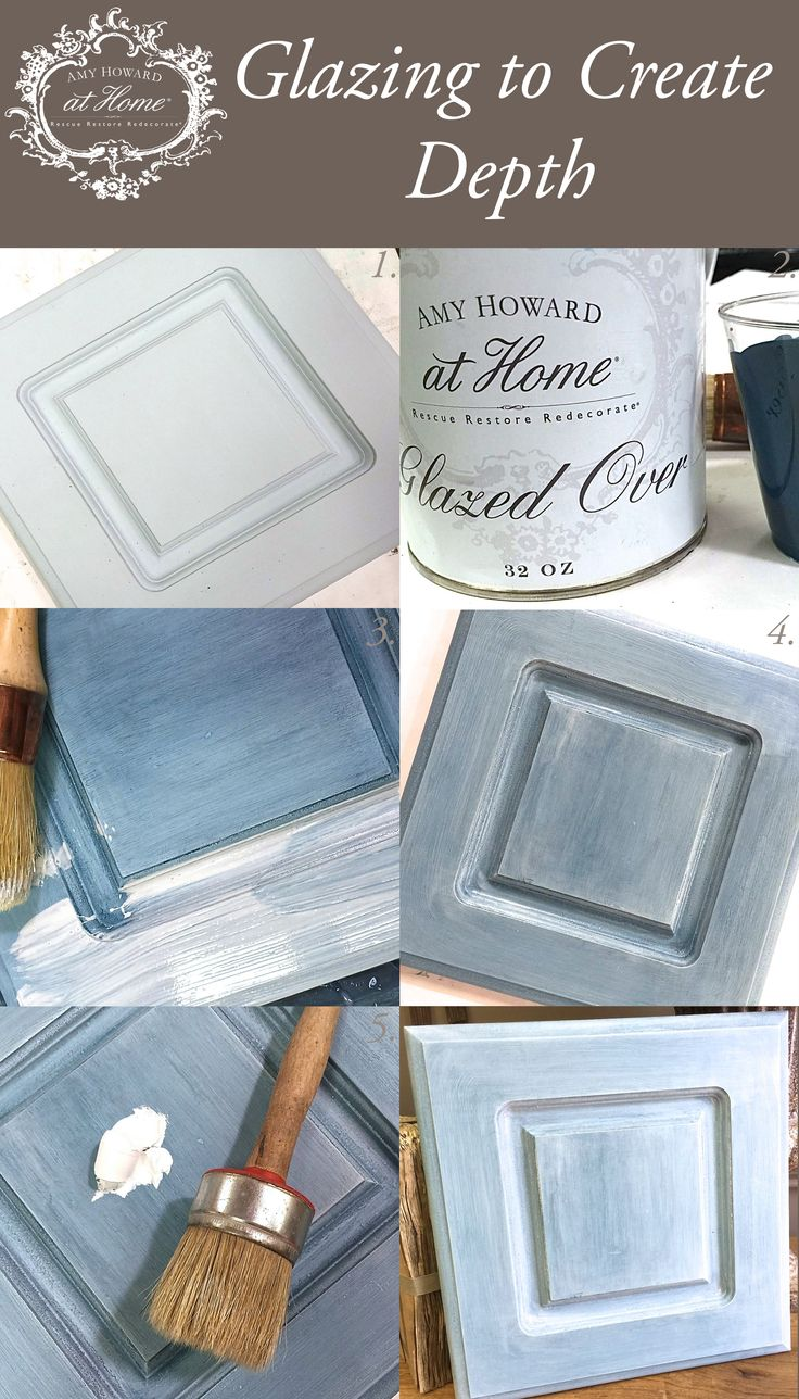 DIY Glazing using Amy Howard at Home Glazed Over with One Step Paint and Liming Wax.