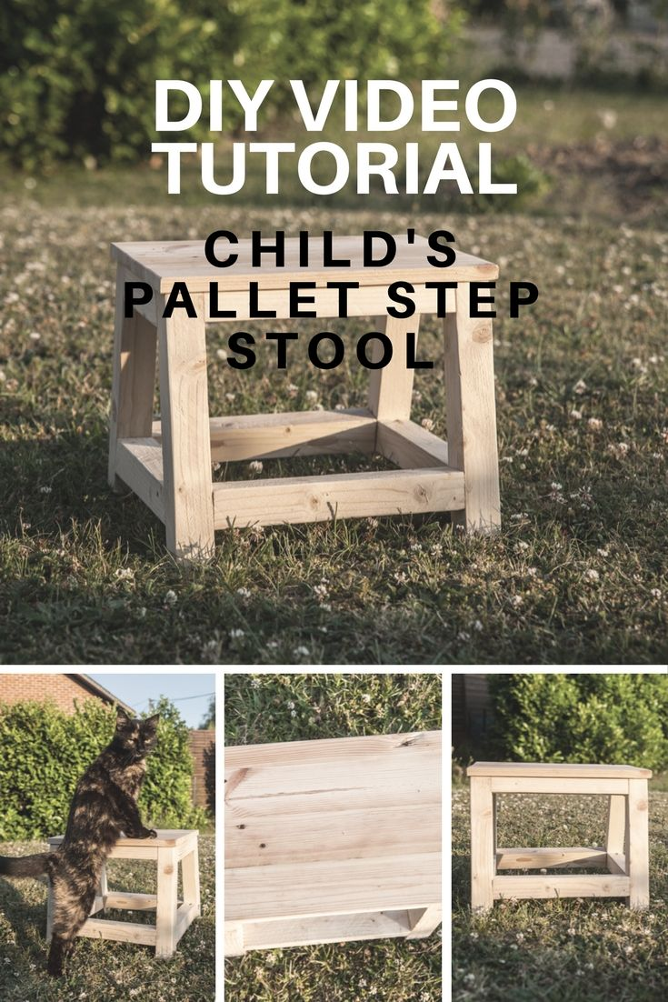 Diy herb garden made of pallets refresh your eyes and mind with pallet - Diy Video Tutorial Child S Pallet Step Stool Pallet Ideas
