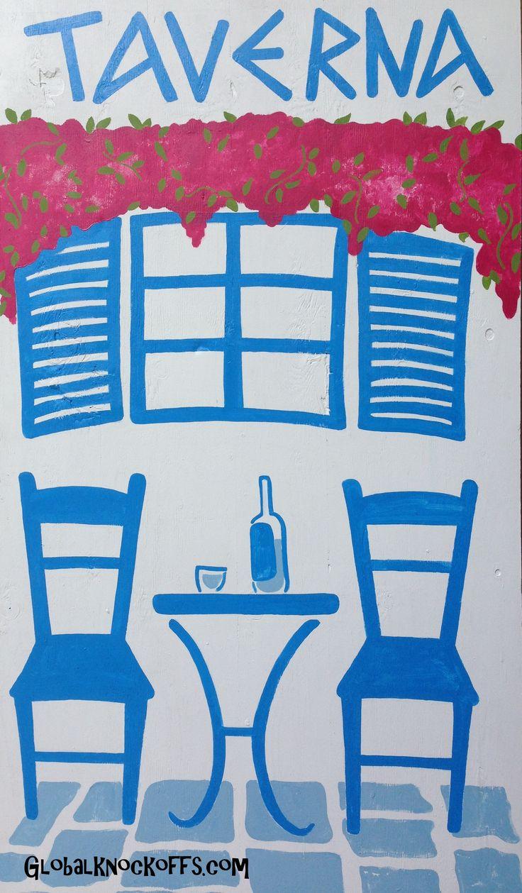 Greek Taverna art