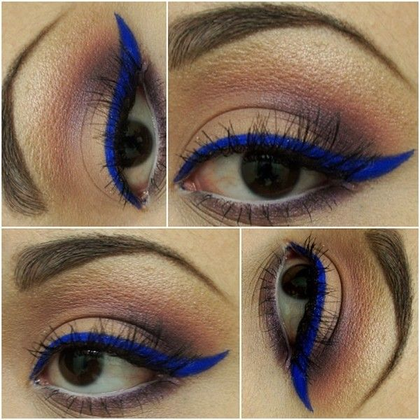 A look I did using eyeshadows from the Urban Decay Vice Palette. The vibrant blue liner is actually a loose eyeshadow from Glamour Doll Eyes called Mingles. I used Mehron Mixing Liquid to turn it into a liner.