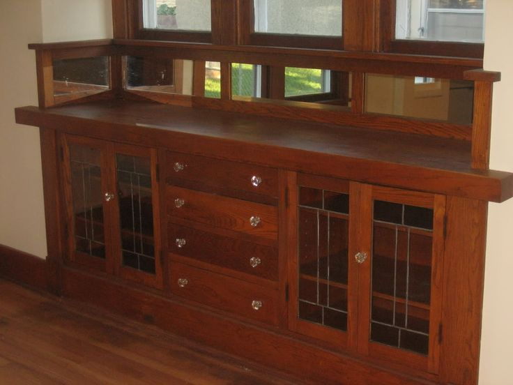 1000 Ideas About Built In Buffet On Pinterest Craftsman