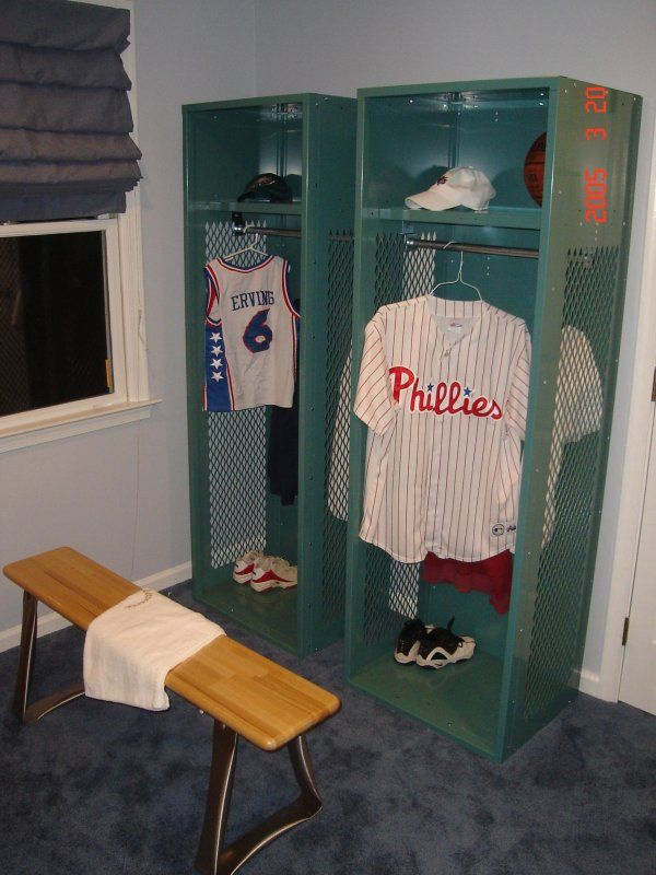 64 best baseball room images on pinterest bedroom ideas for Lockers for kids room