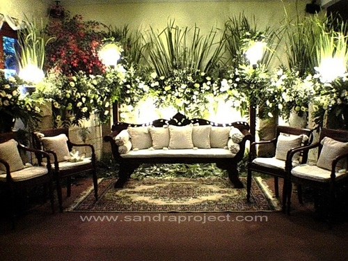 Javanese traditional wedding throne decoration