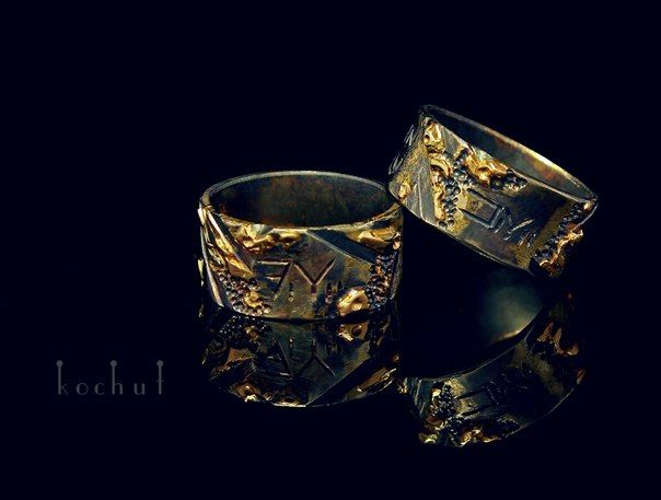 "Wedding rings ""Starwars"" Gold, silver."