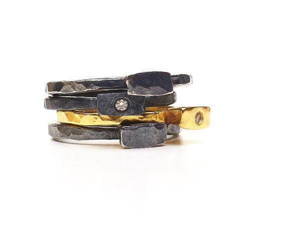 puhleaseDiamond Engagement Rings, Diamond Rings, Hammer Stacked, Camile Rings, Stacked Rings, Rings Sydney, Diamonds Rings, Diamonds Engagement Rings, Stackable Diamonds