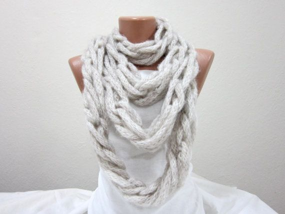 Scarf infinity  Necklace scarf  Colorful  Long  winter  by nurlu, $35.00