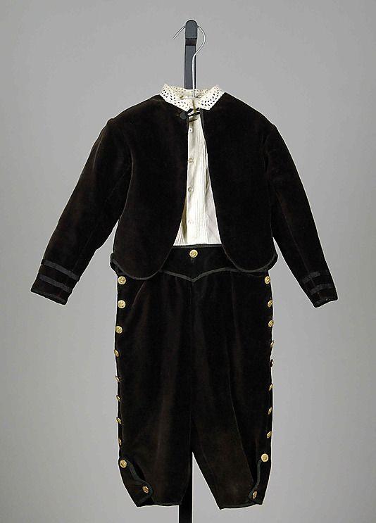 Suit Date: ca. 1860 Culture: American Medium: Cotton, silk, metal