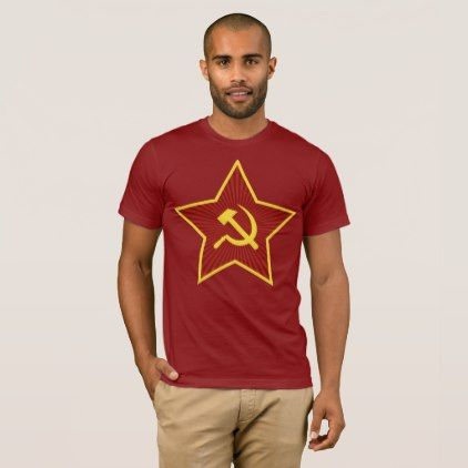 Red Star Hammer and Sickle Men's Basic T-Shirt - red gifts color style cyo diy personalize unique