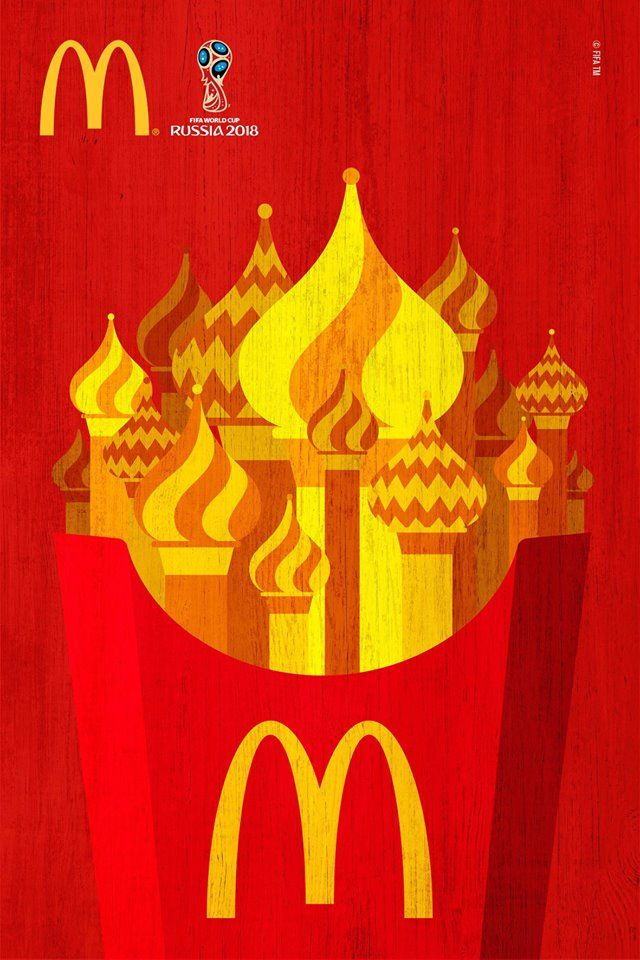 See Mcdonald S New Print Ads For The 2018 Fifa World Cup Russia Created By Dpz T World Cup Mcdonalds Graphic Design Posters