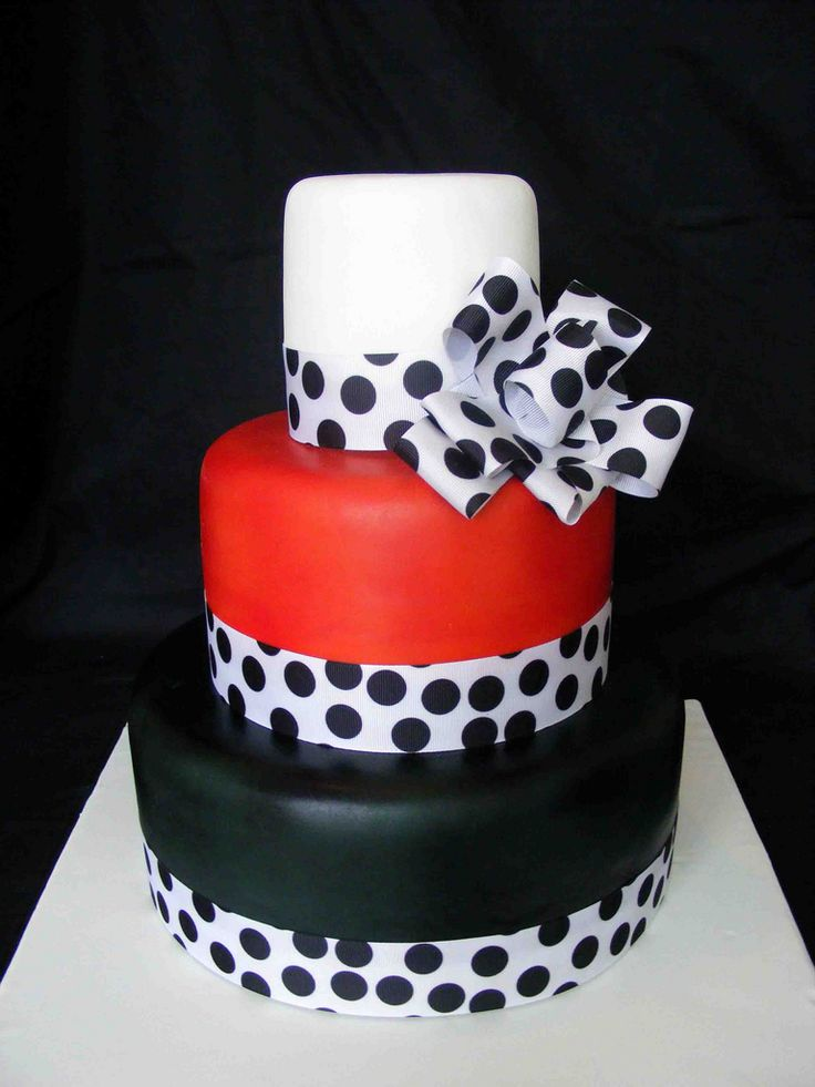 Black Red And White Cake
