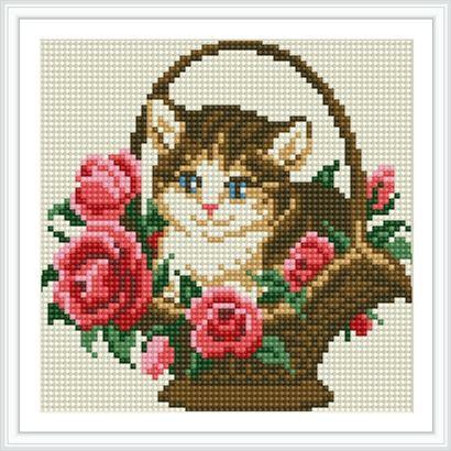 Χειροτεχνήματα: γάτες σταυροβελονιά - 7 υπέροχα σχέδια για κεντητά μαξιλάρια / cross stitch cat cushions