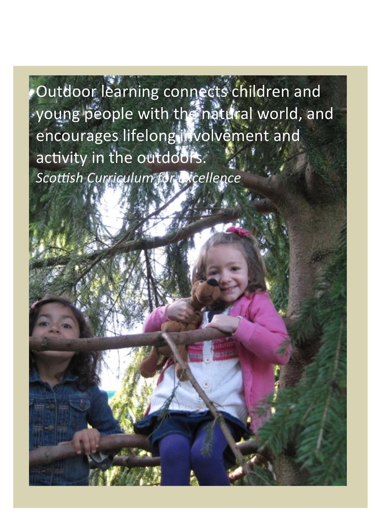 Early Learning at ISZL: Posters to promote outdoor learning - some powerful quotes