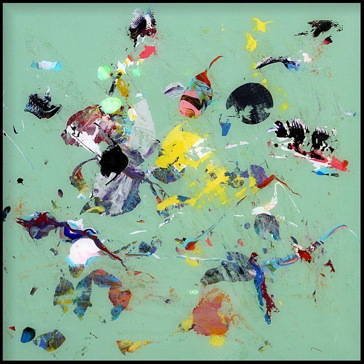 ATLAS Pâle green www.santiagopicatoste.com 50 x 50 cm técnica mixta sobre metacrilato, mixed media on plexiglass