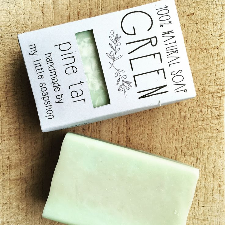 Soap packaging . Green pine tar soap with olive oil and aloe vera from my little soap shop . This product is handmade in Greece from natural products